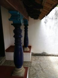 Curved Columns of Chettinad House